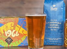 image of 1966 Coffee IPA, a collaboration between 21st Amendment Brewery and Peet's Coffee courtesy of 21st Amendment Brewery