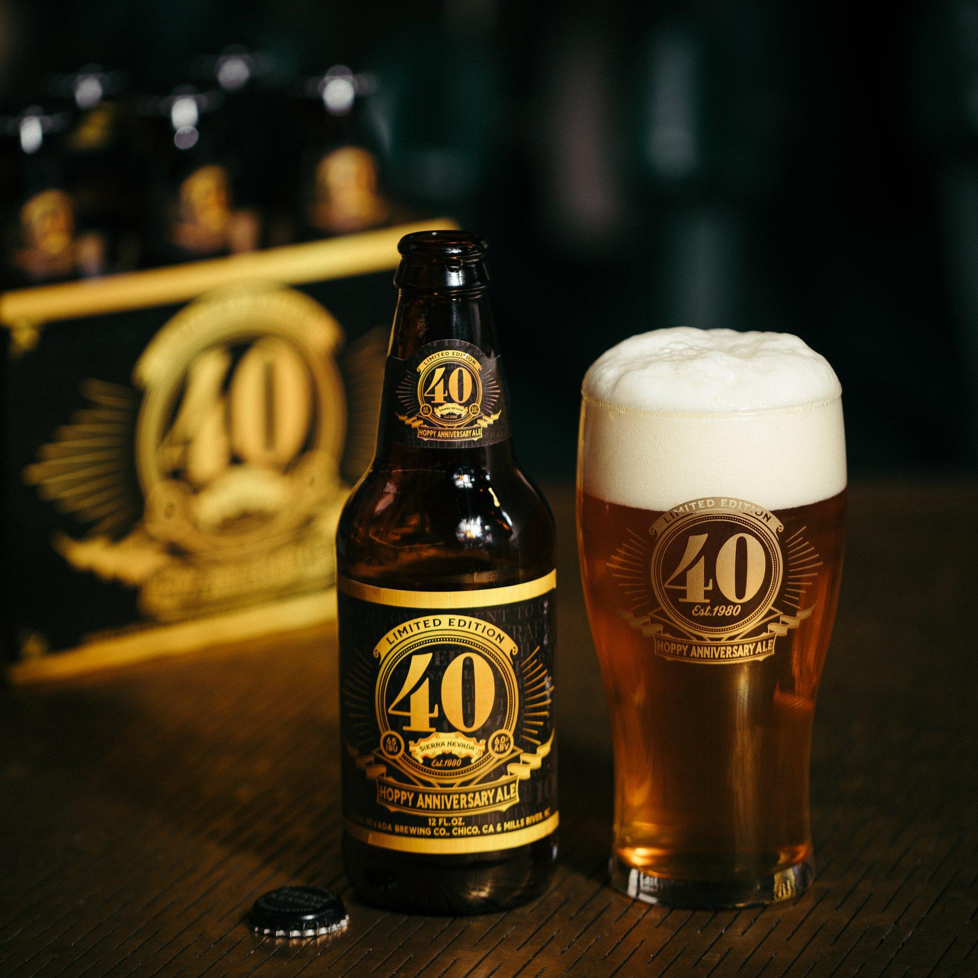 image of 40th Hoppy Anniversary Ale courtesy of Sierra Nevada Brewing