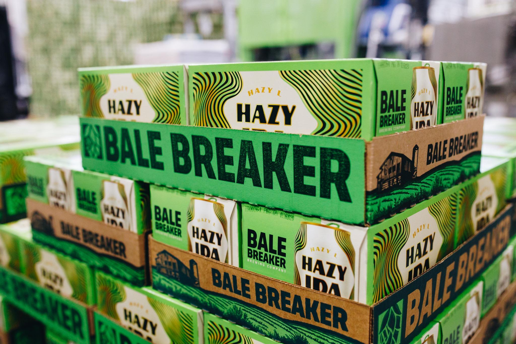 image of Bale Breaker Hazy L IPA courtesy of Bale Breaker Brewing