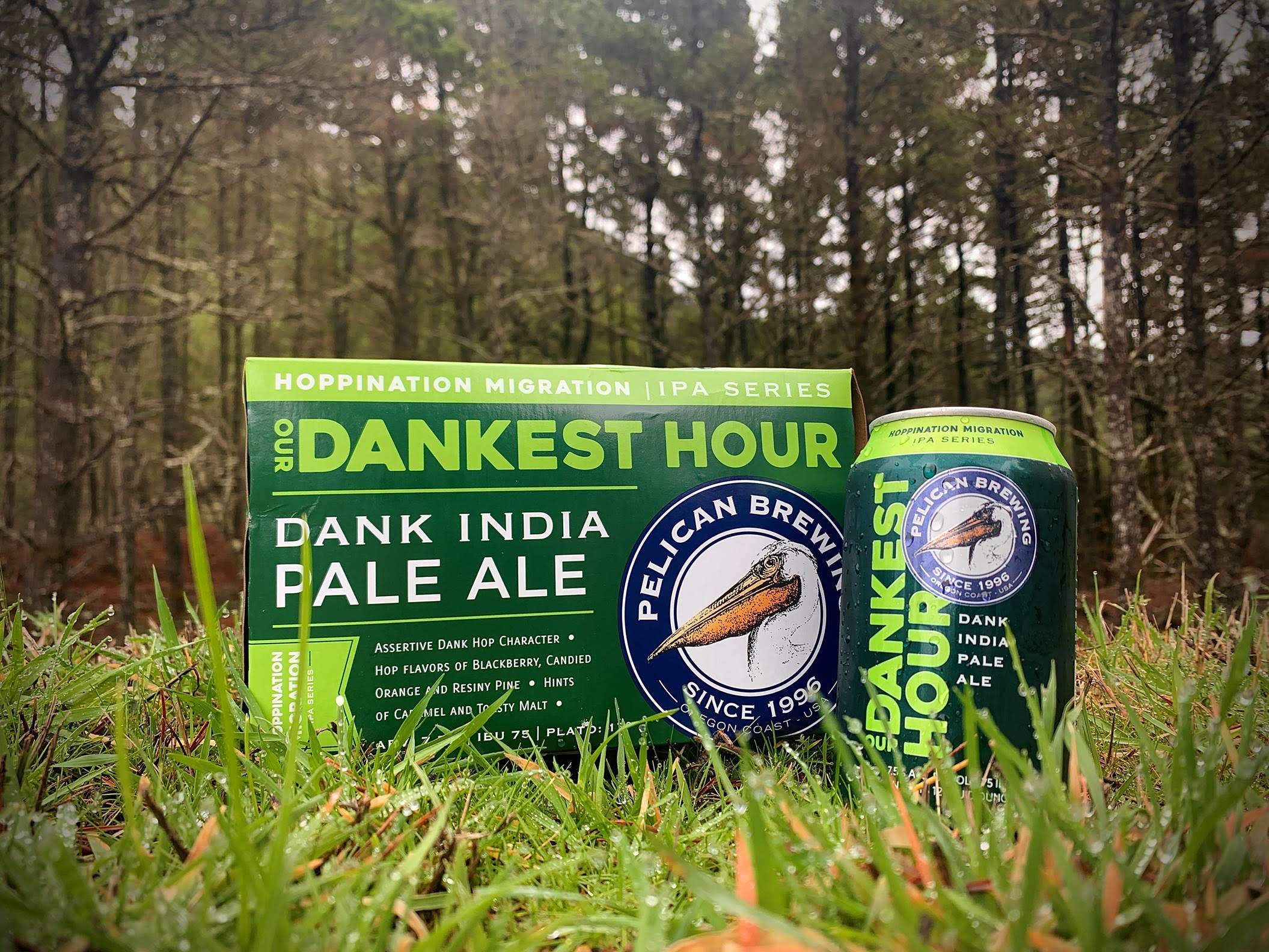 image of Our Dankest Hour Dank India Pale Ale courtesy of Pelican Brewing