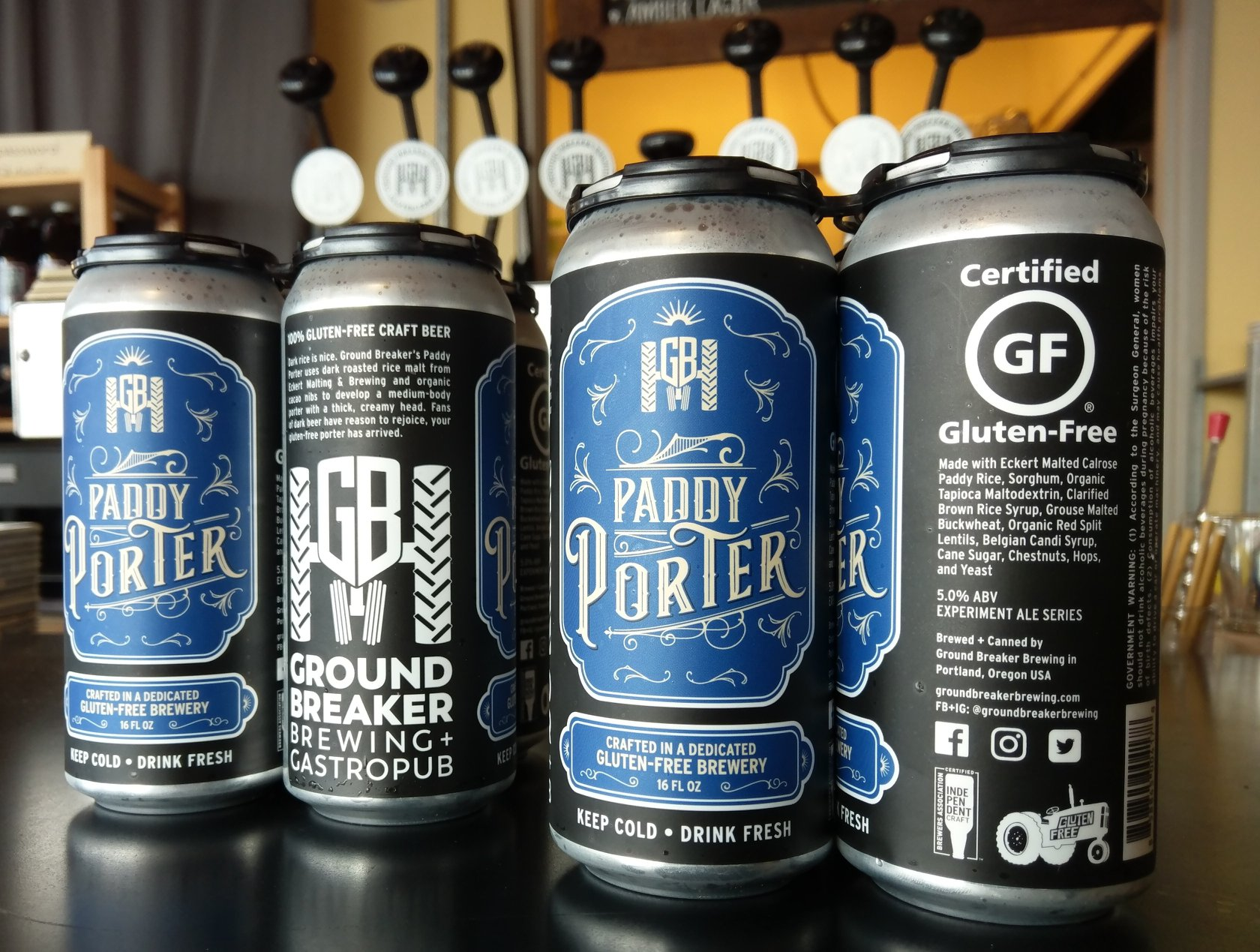image of Paddy Porter courtesy of Ground Breaker Brewing