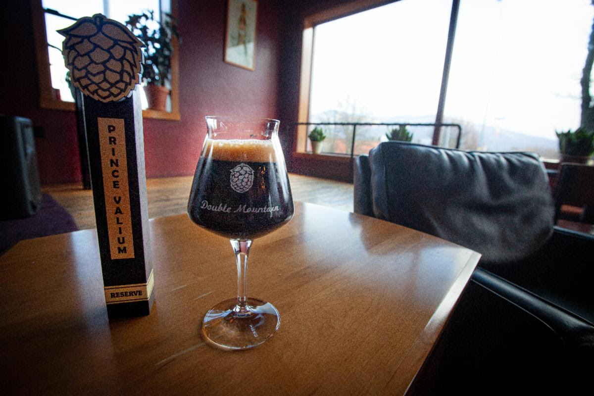 image of Prince Valium – Brandy Barrel-Aged Imperial Stout courtesy of Double Mountain Brewery & Cidery