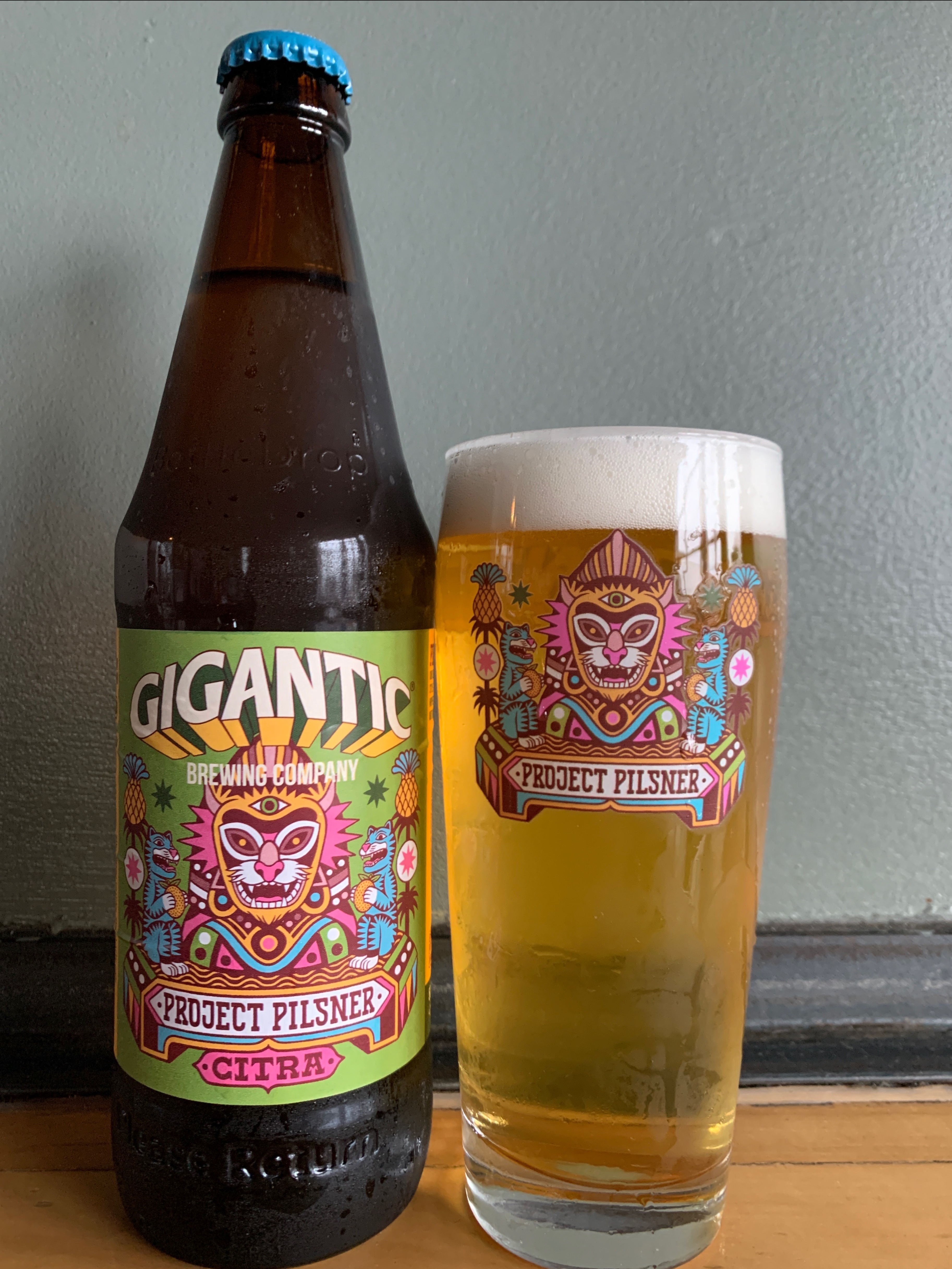 image of Project Pilsner Citra courtesy of Gigantic Brewing