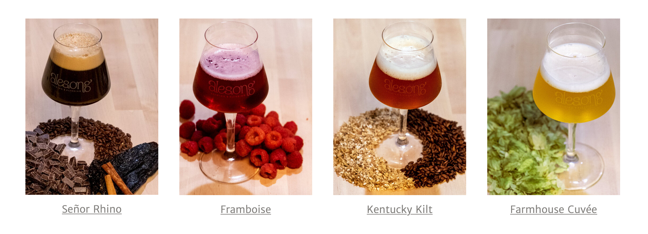 Alesong Brewing & Blending March 2020 Beer Releases - Señor Rhino, Framboise, Kentucky Kilt, and Farmhouse Cuvée