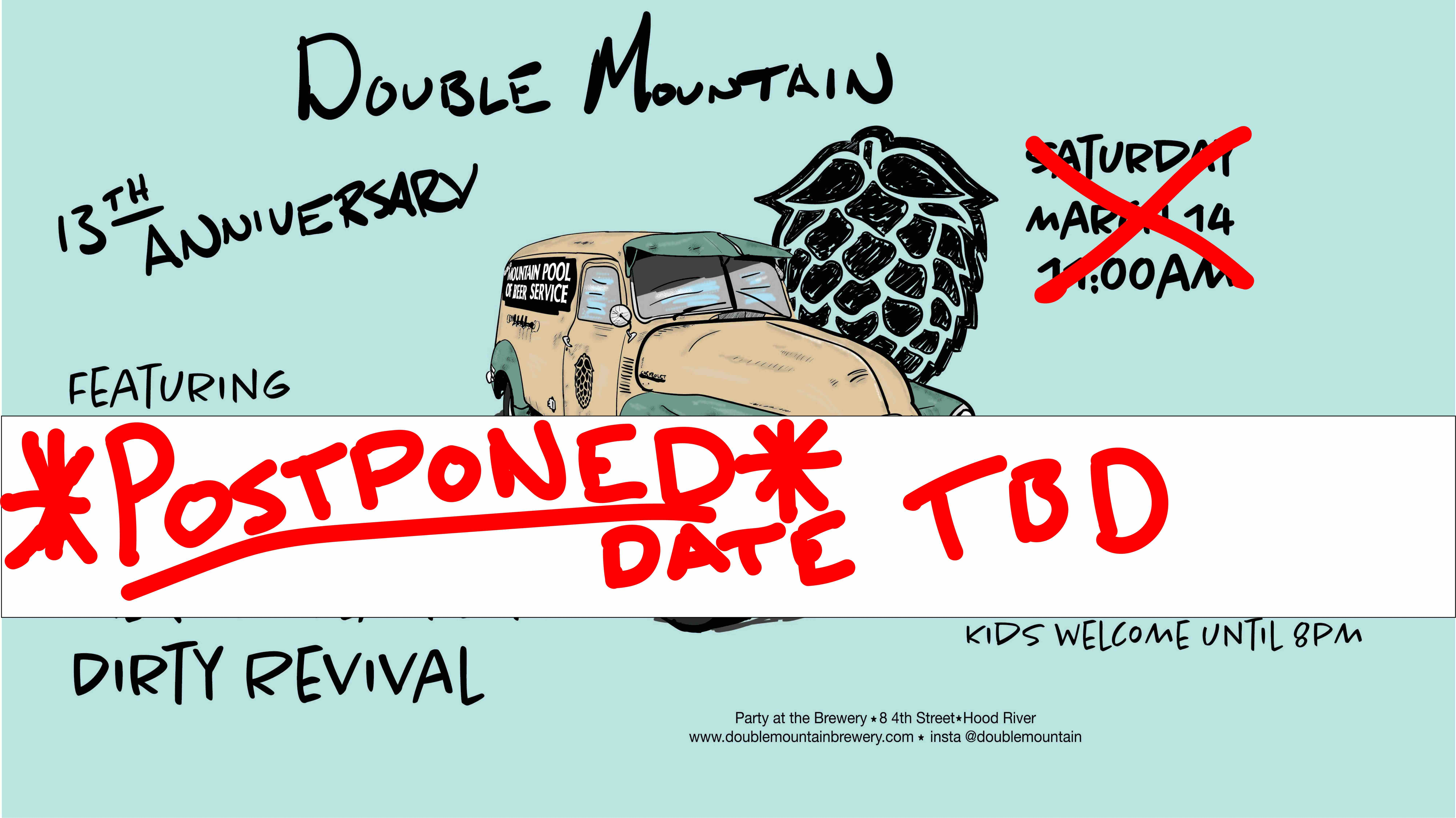 Double Mountain 13th Anniversary POSTPONED until June 27th