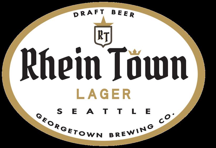 Georgetown Brewing Rhien Town Lager, brewed for Rhein Haus