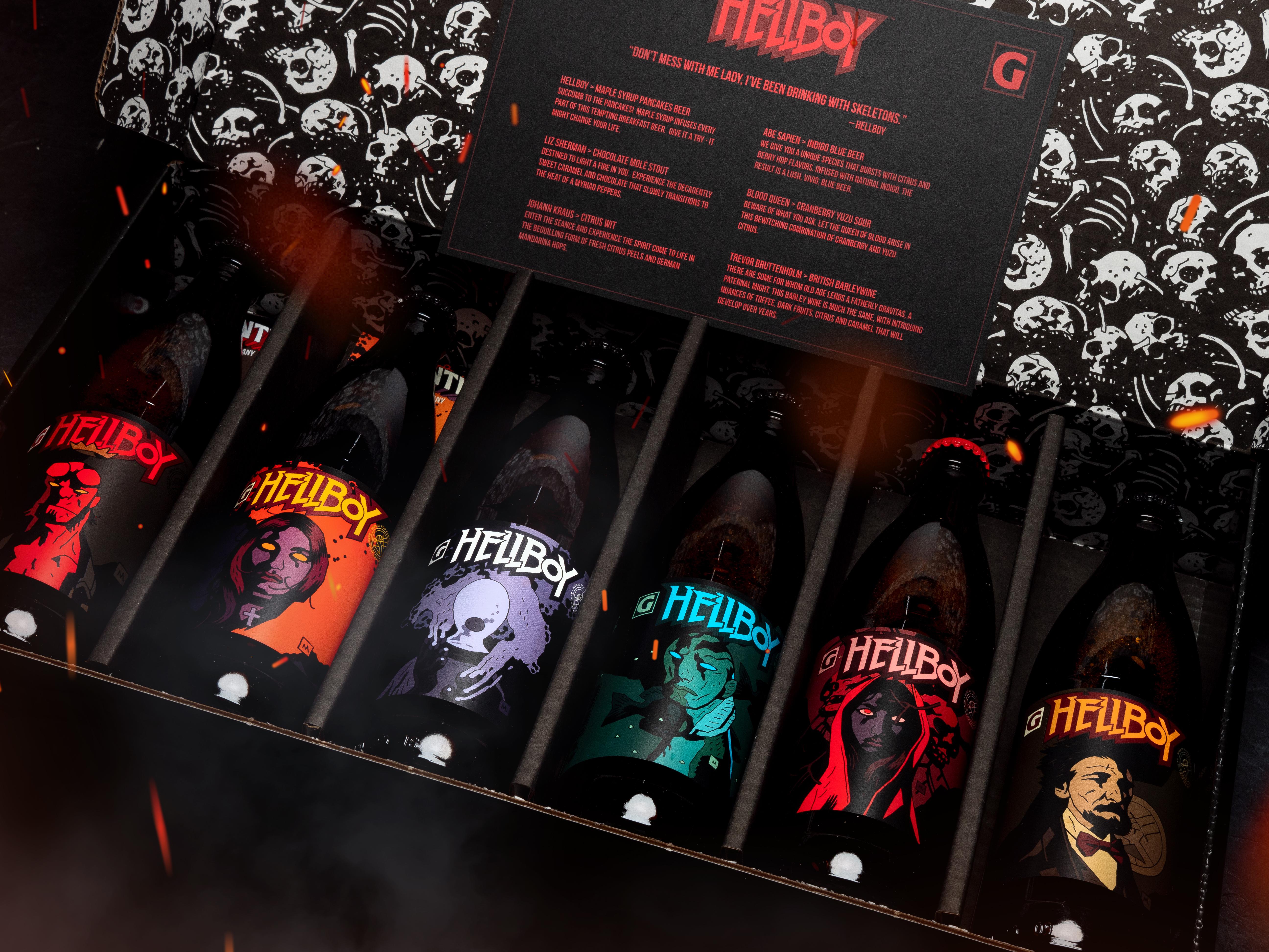 image of Hellboy Beer Box Set courtesy of Gigantic Brewing