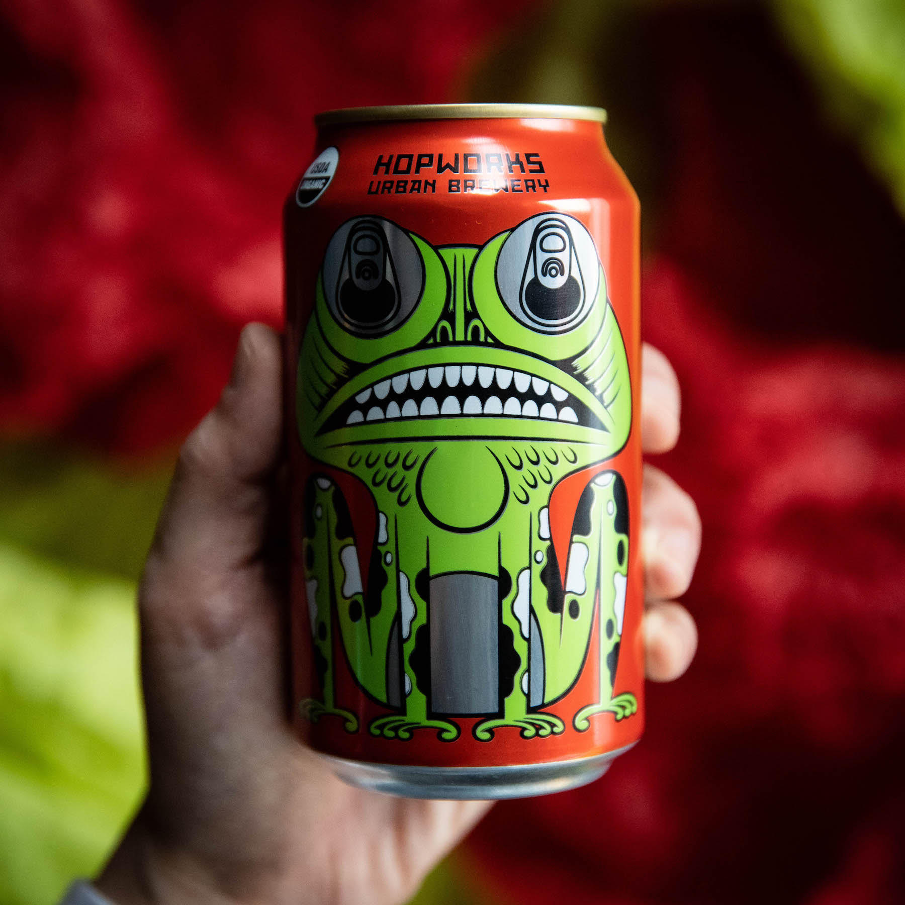 image of Tree Frog Organic Pale Ale courtesy of Hopworks Urban Brewery