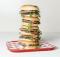 image of a stack of Hopyard Cheddar Burger courtesy of Burgerville