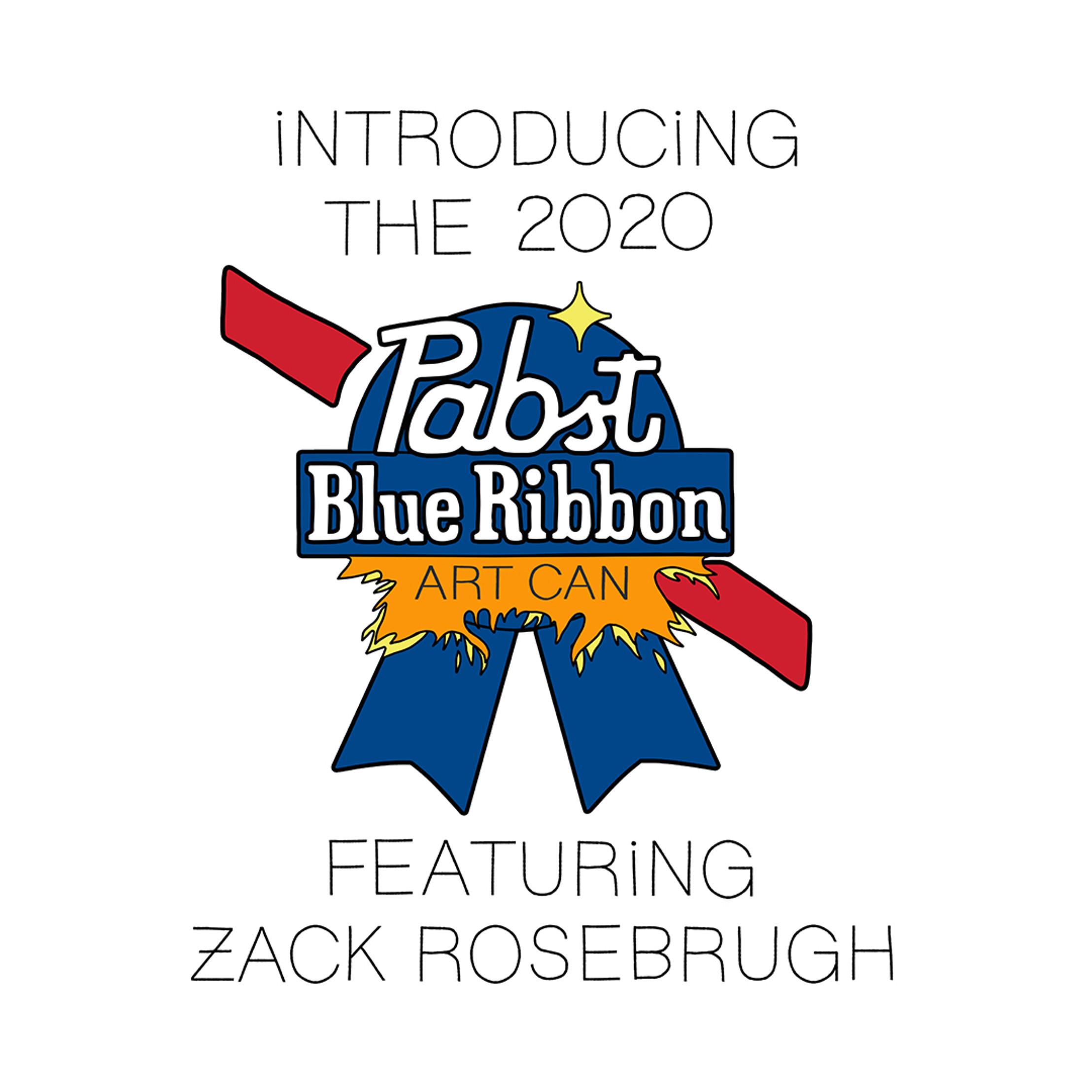 2020 Pabst Blue Ribbon Art Can Contest winner Zack Rosenbrugh