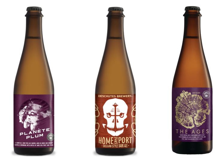Deschutes Brewery Planète Plum, Home at Port, and The Ages 2020