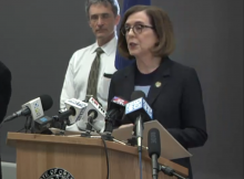 Governor Kate Brown announcing the closure of bars, taprooms, and restaurants for on-site consumption beginning on March 17th for four weeks.