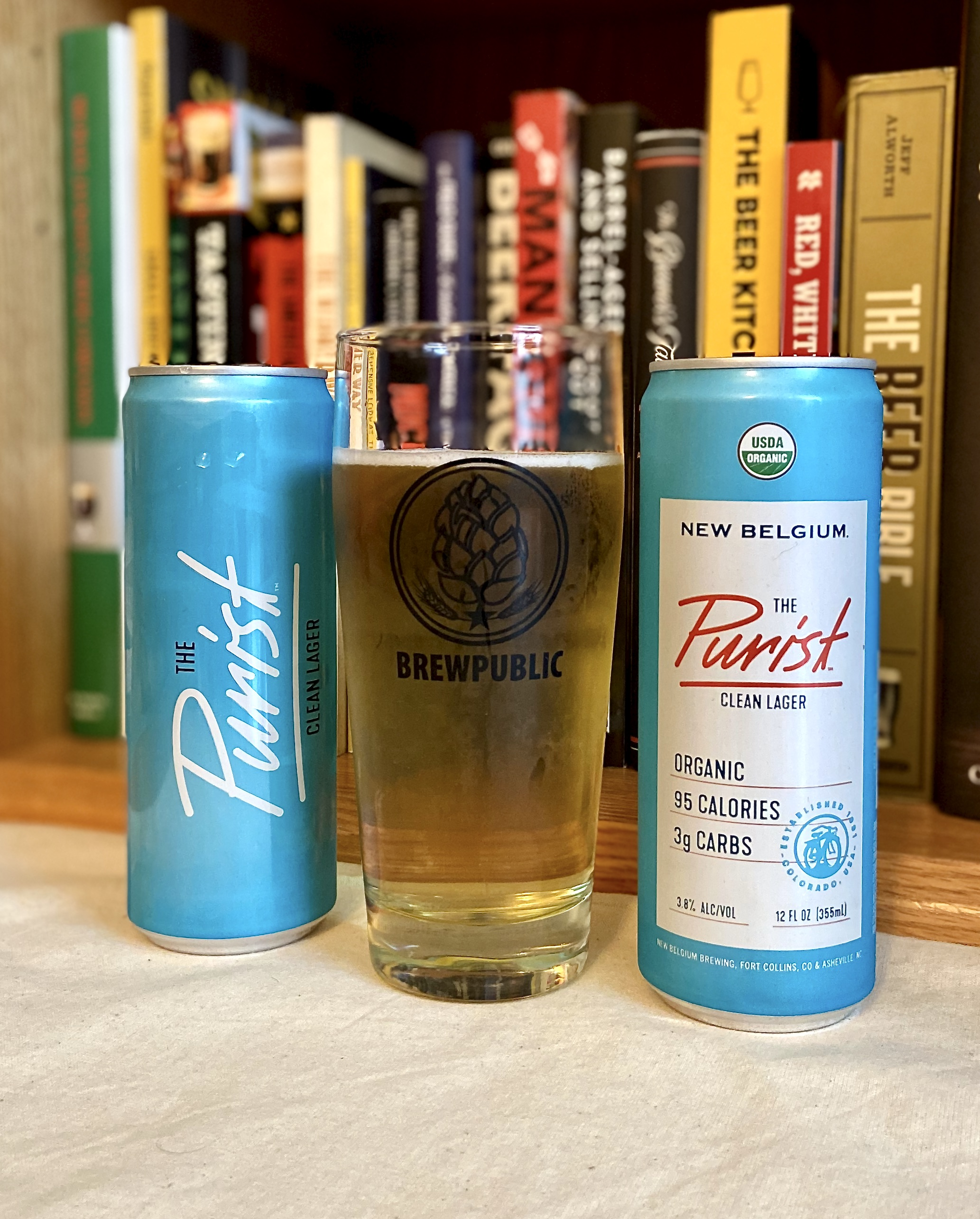 New Belgium Brewing has released The Purist Clean Lager at only 3.8% ABV, 95 calories and 3g of carbs.