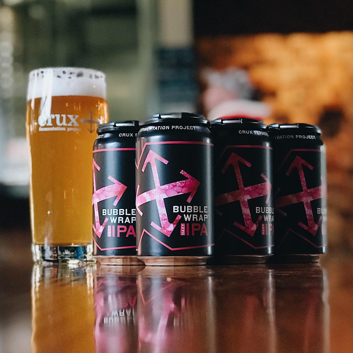 image of Bubble Wrap Hazy IPA courtesy of Crux Fermentation Project