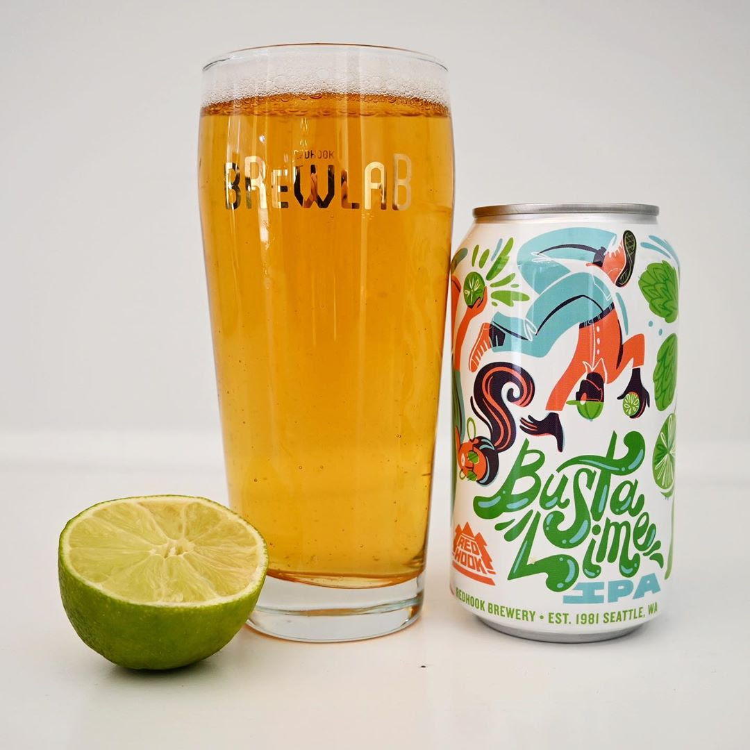 image of Busta Lime IPA courtesy of Redhook Brewery