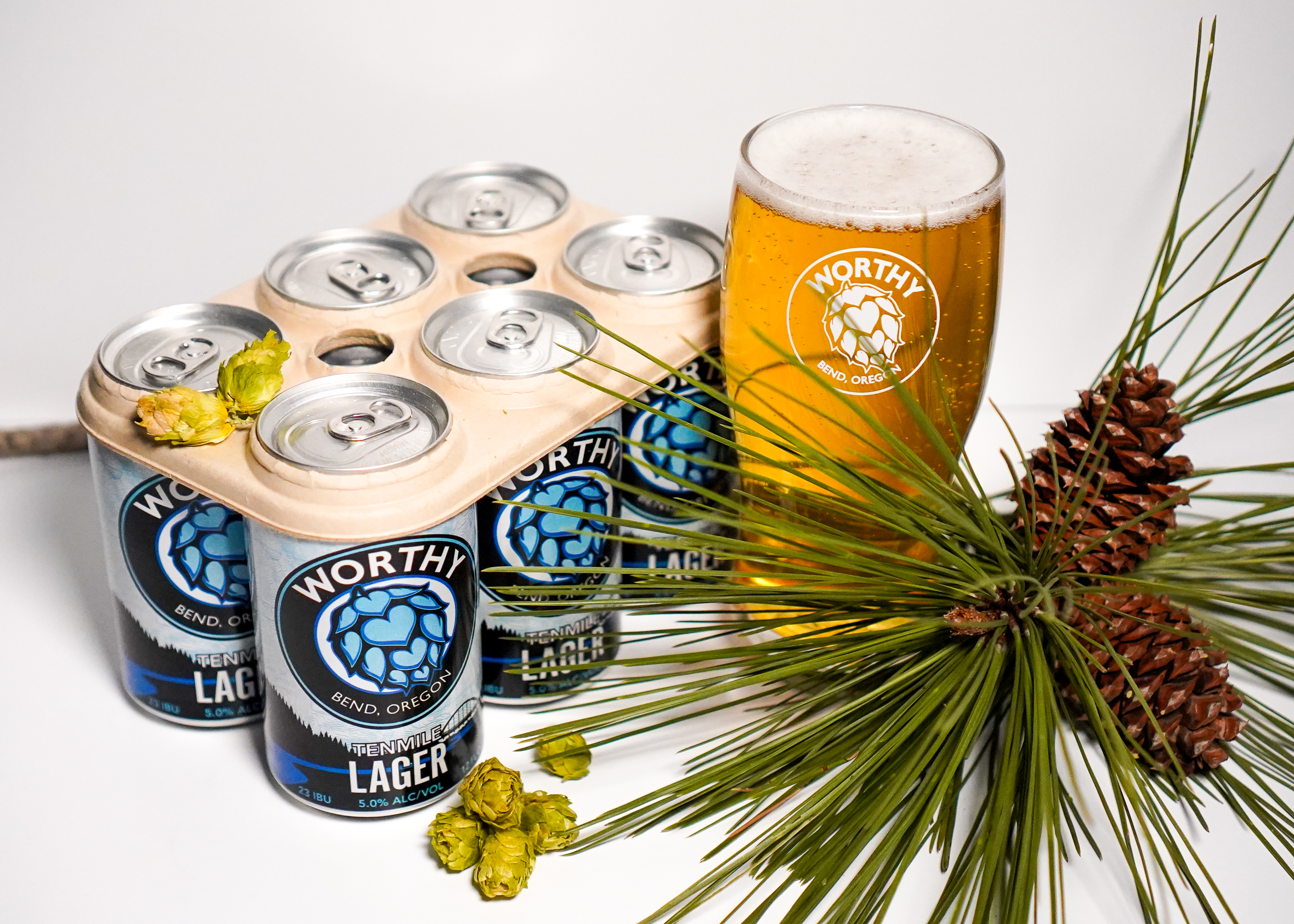 image of Tenmile Dry Hopped Lager courtesy of Worthy Brewing