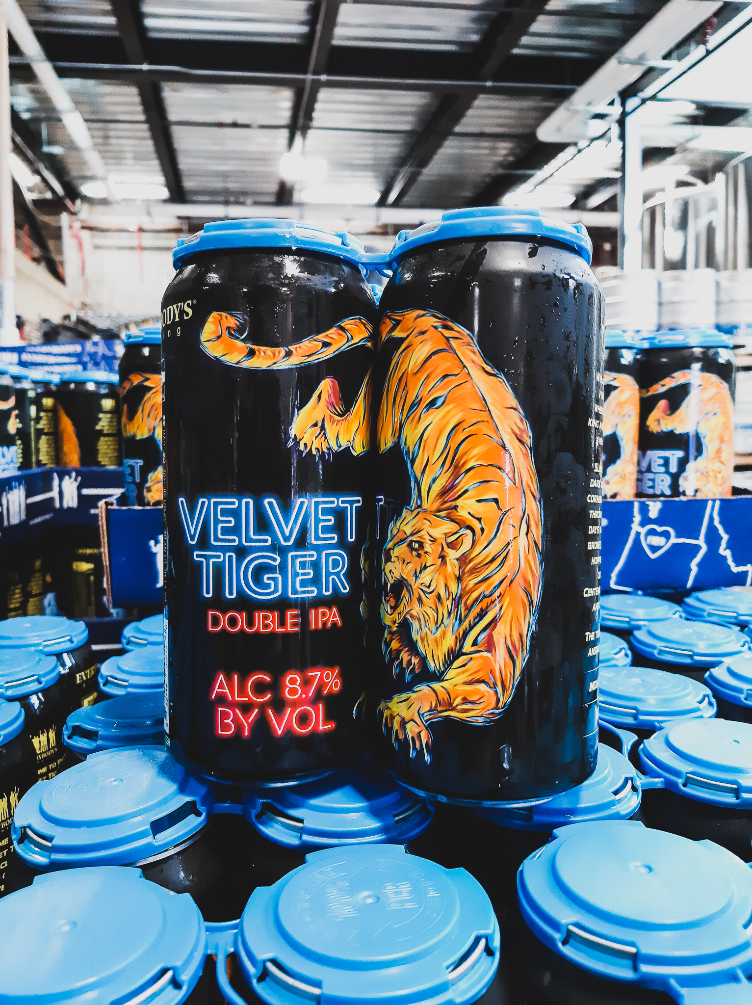 image of Velvet Tiger Double IPA courtesy of Everybody's Brewing
