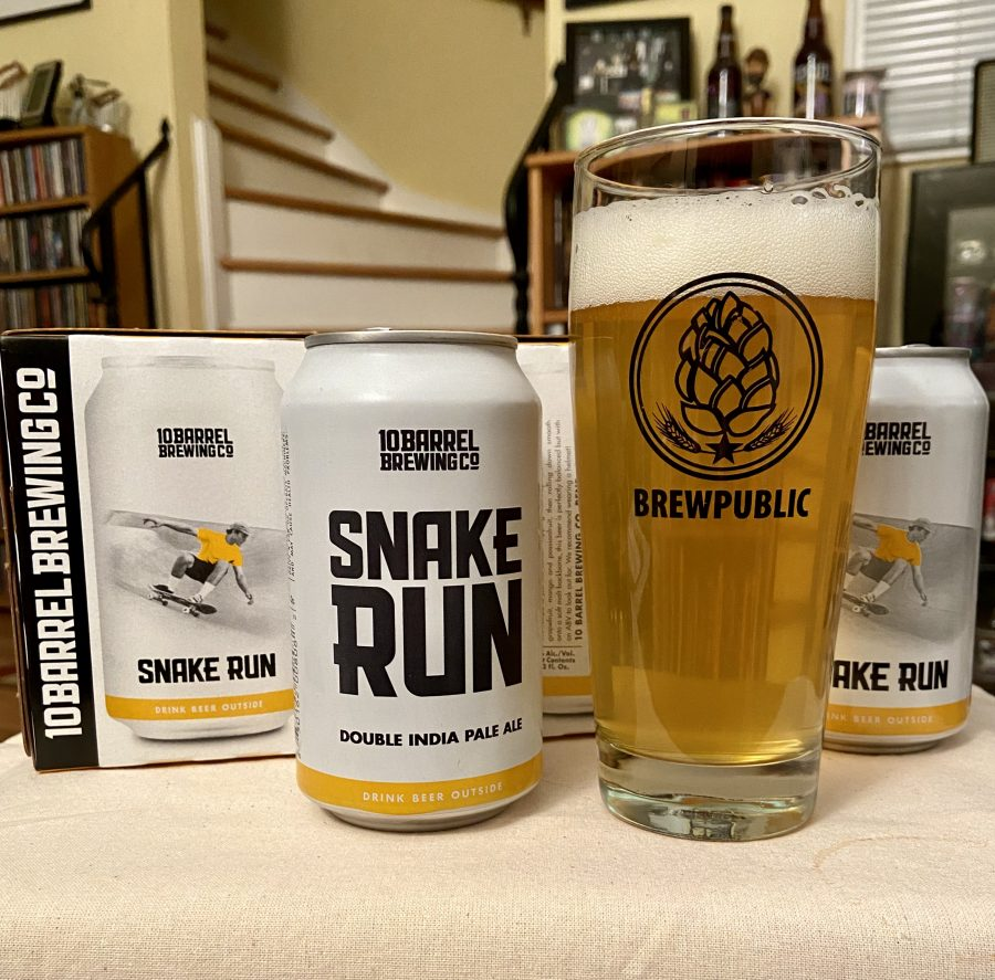 10 Barrel Brewing Snake Run Double IPA is a intriguing take on this beer style.