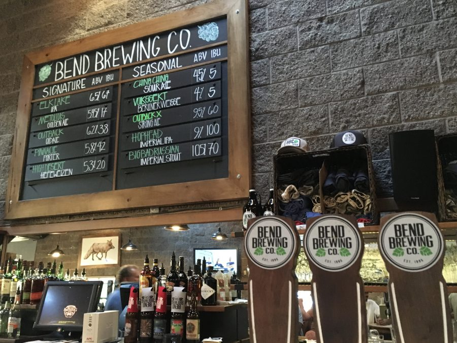 Bend Brewing Co. in downtown Bend, Oregon.
