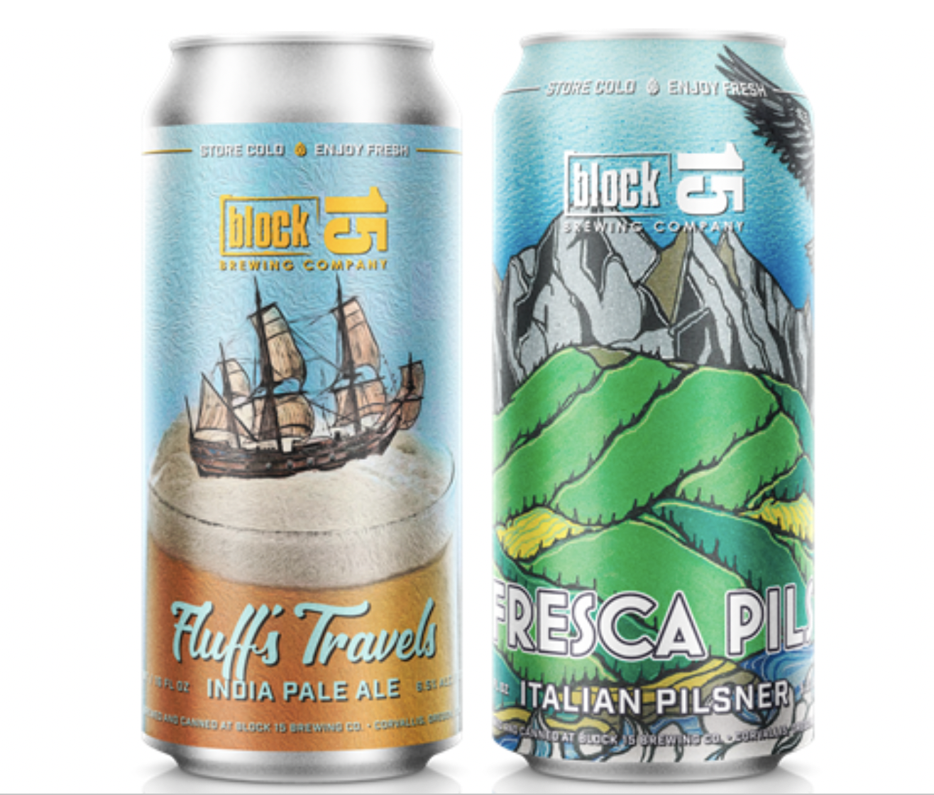 Block 15 Brewing Fluff's Travels and Fresca Pils