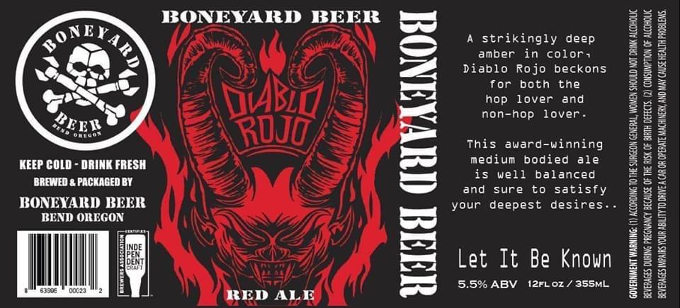 Boneyard Beer Diablo Rojo Red Ale 12oz Can