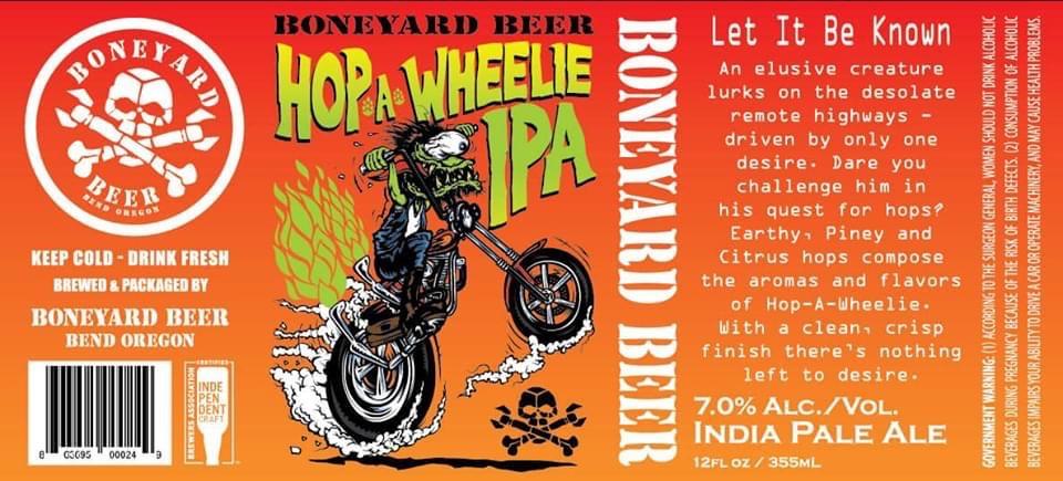Boneyard Beer Hop A Wheelie IPA 12oz Can
