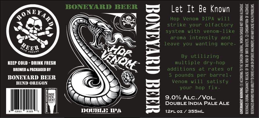 Boneyard Beer Hop Venom Double IPA 12oz Can