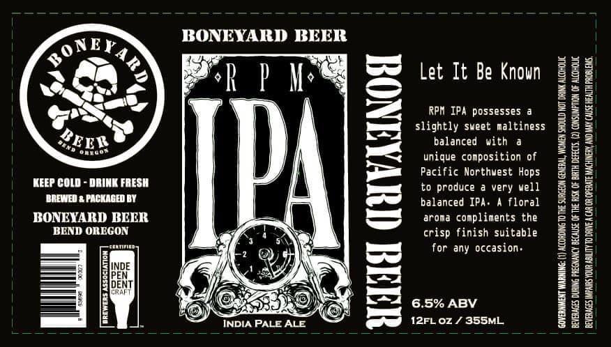 Boneyard Beer RPM IPA 12oz Can
