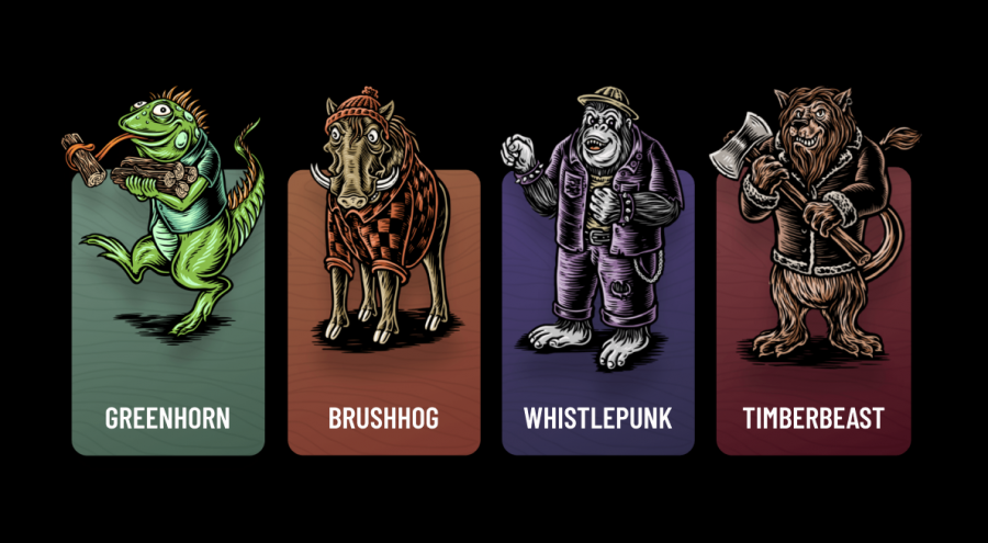 Characters from the Great Notion Brewing app.