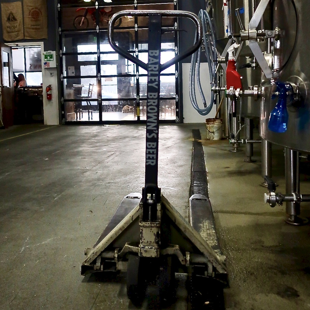 Eastern Oregon's most famous pallet jack is used at Barley Brown's Beer in Baker City, Oregon.
