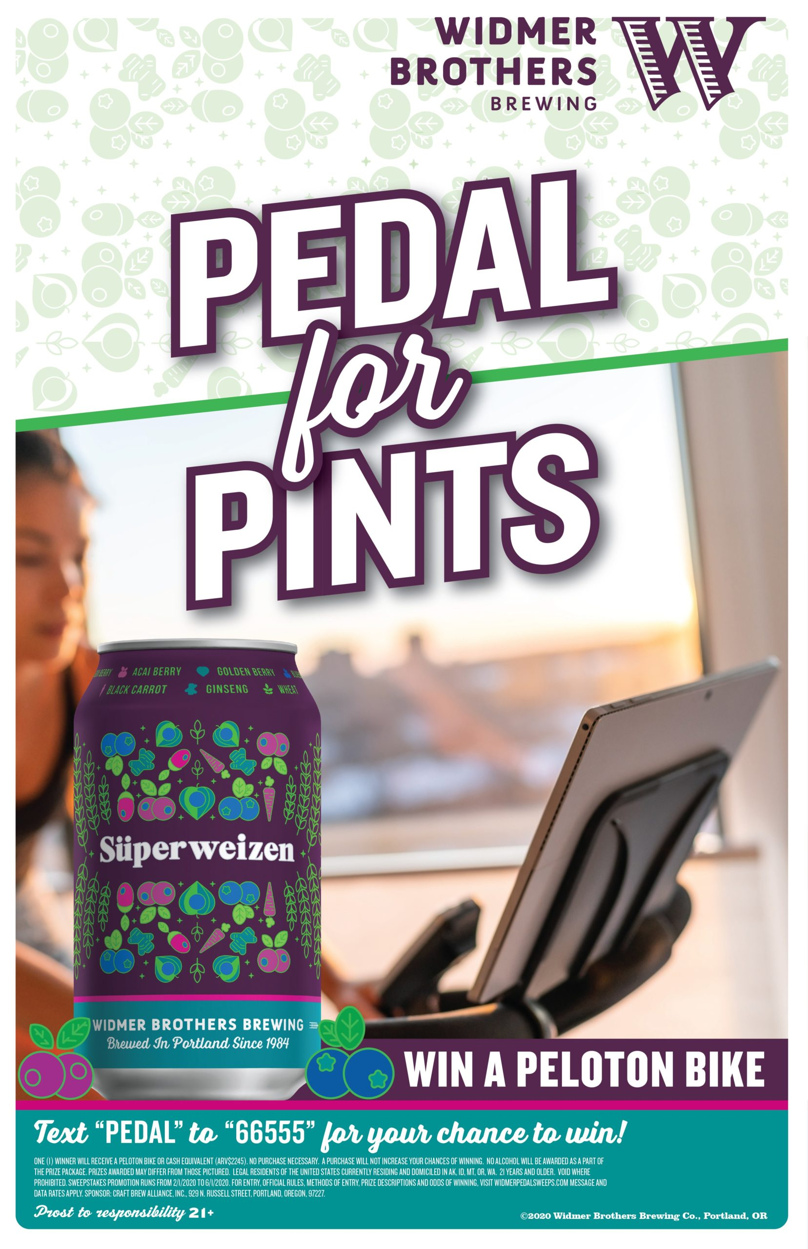 Pedal for Pints with Superweizen from Widmer Brothers Brewing and Peloton
