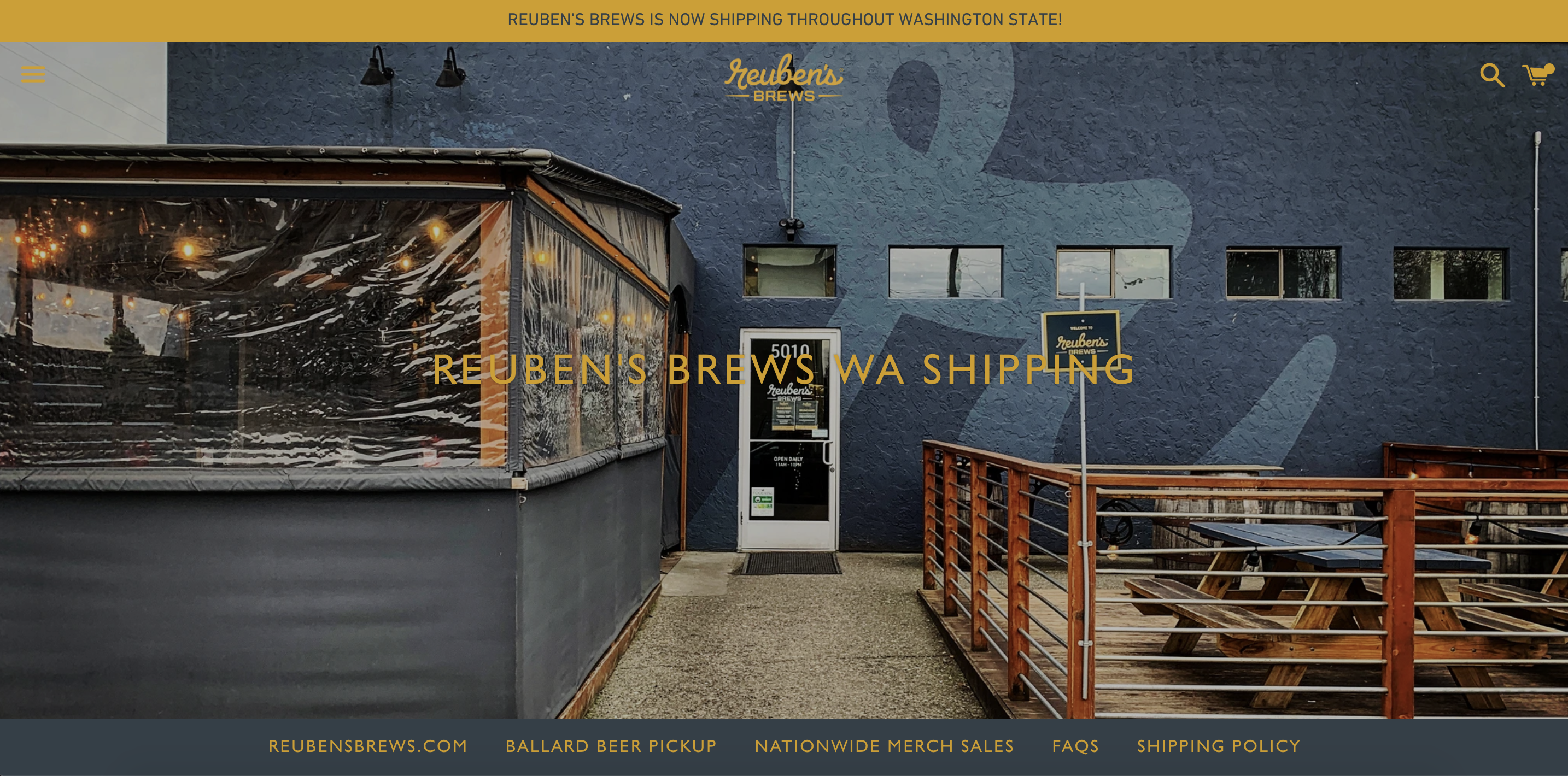 Reuben's Brews Beer Store - Washington State Shipping