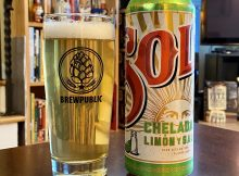 Sol Chelada Limón y Sal is a nice refreshing Mexican lager with the addition of lime and salt.