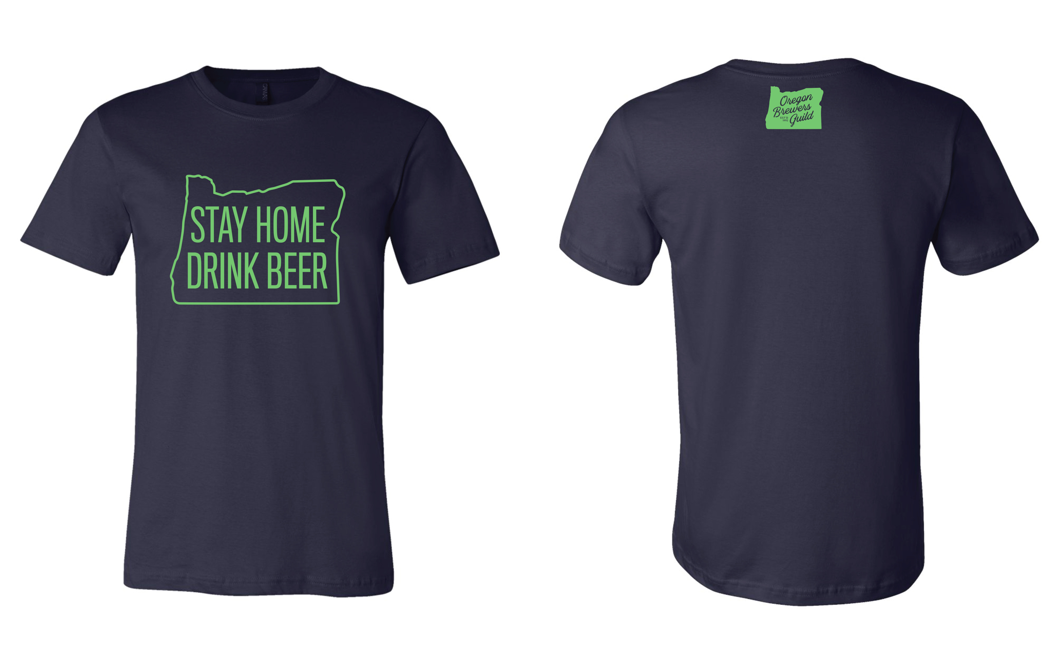 Stay Home Drink Beer Shirt that benefits the Oregon Brewers Guild