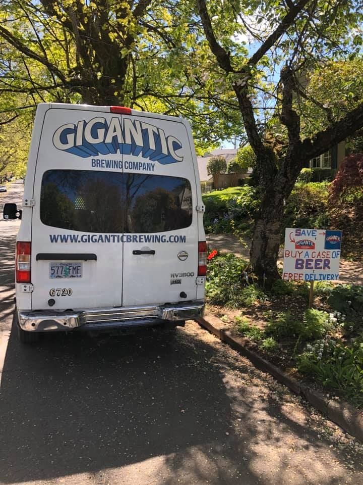 The Gigantic Brewing delivery van delivers beer throughout most of Portland directly to your front door. (image courtesy of Gigantic Brewing)
