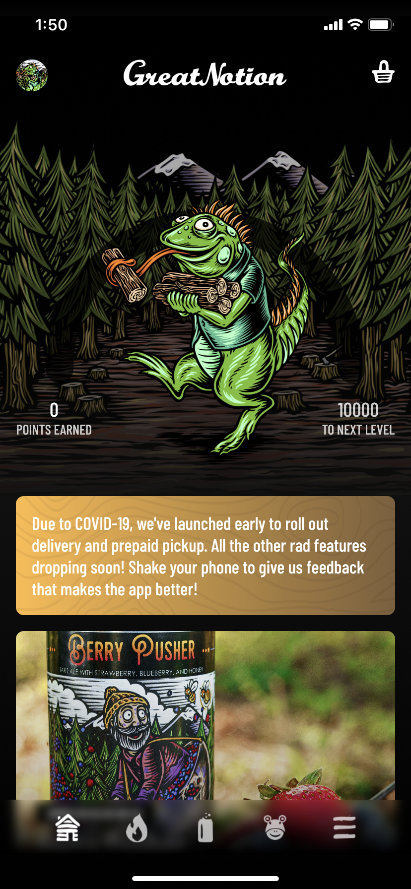The Great Notion Brewing app has launched for Apple iOS.