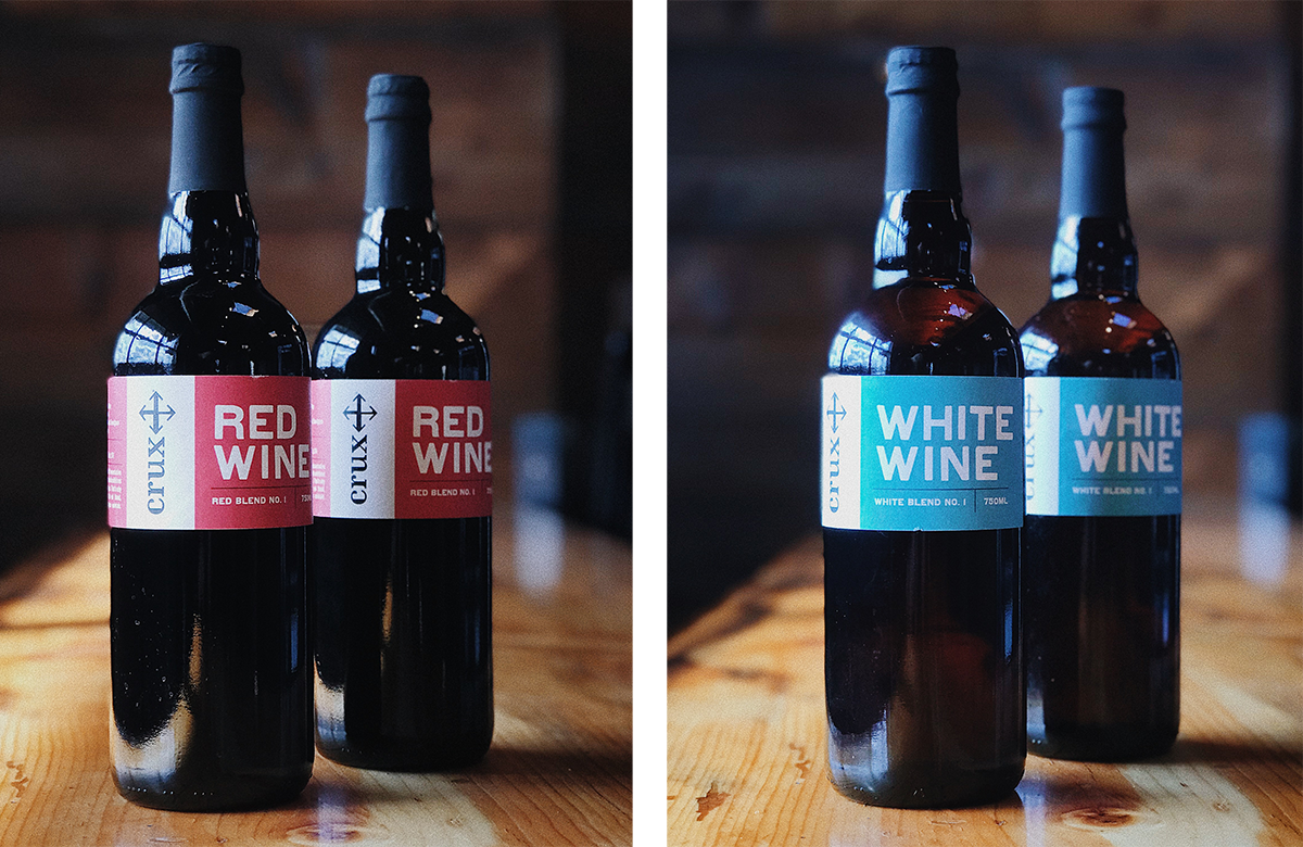 image of Red Wine and White Wine courtesy of Crux Fermentation Project
