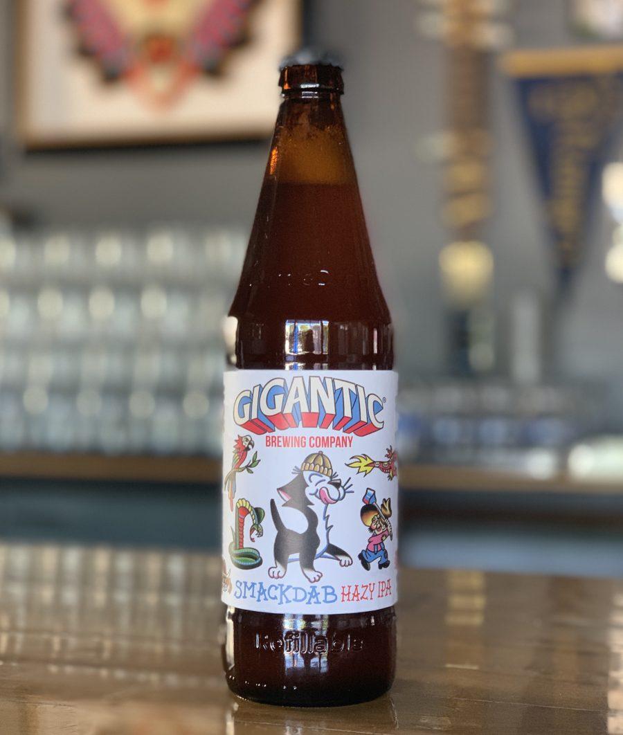 image of Smackdab IPA bottle courtesy of Gigantic Brewing