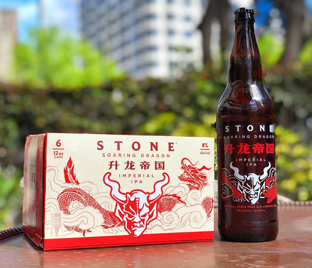 image of Stone Soaring Dragon Imperial IPA courtesy of Stone Brewing