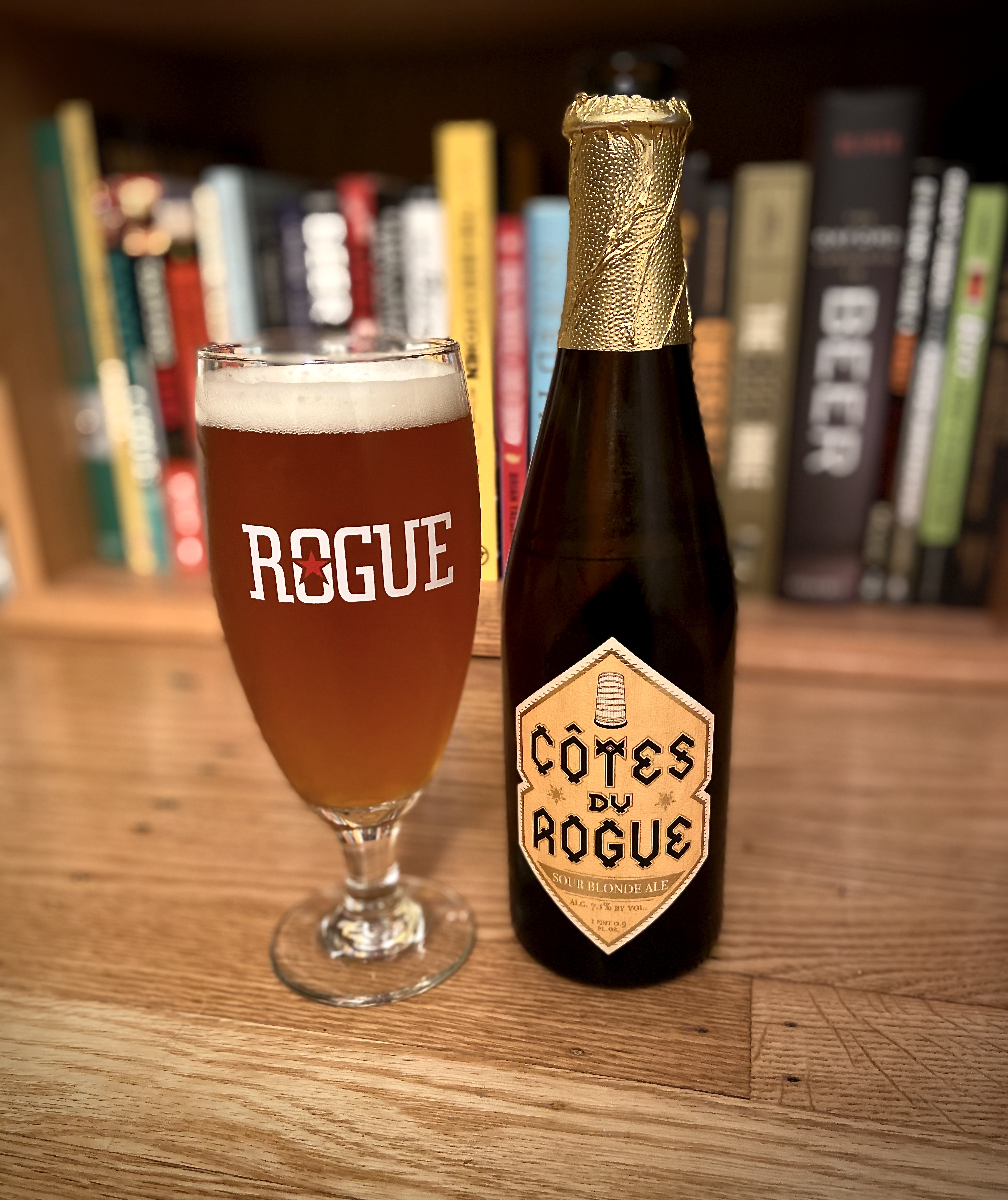 Côtes du Rogue is a fine example of a mixed culture, barrel-aged sour ale.