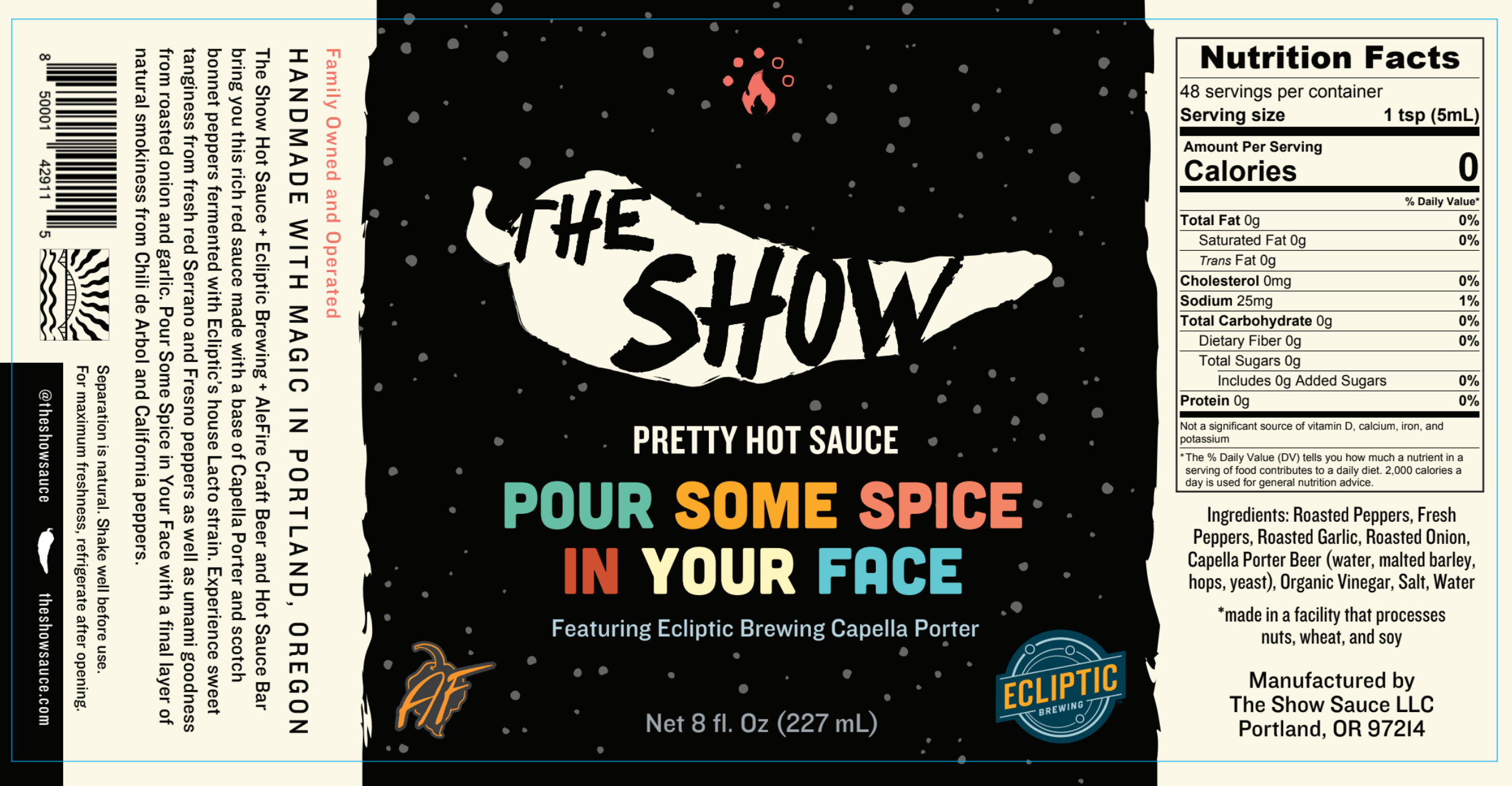 Ecliptic Brewing, AleFire and The Show Hot Sauce Join on Collaboration