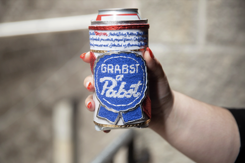 Stitch Gawd koozie. (image courtesy of Pabst Blue Ribbon)
