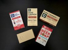 The Beer and Bourbon Box – Deschutes Fresh Squeezed IPA Soap, Old Milwaukee Soap, and Buffalo Trace Bourbon Soap from Duke Cannon Supply Co.