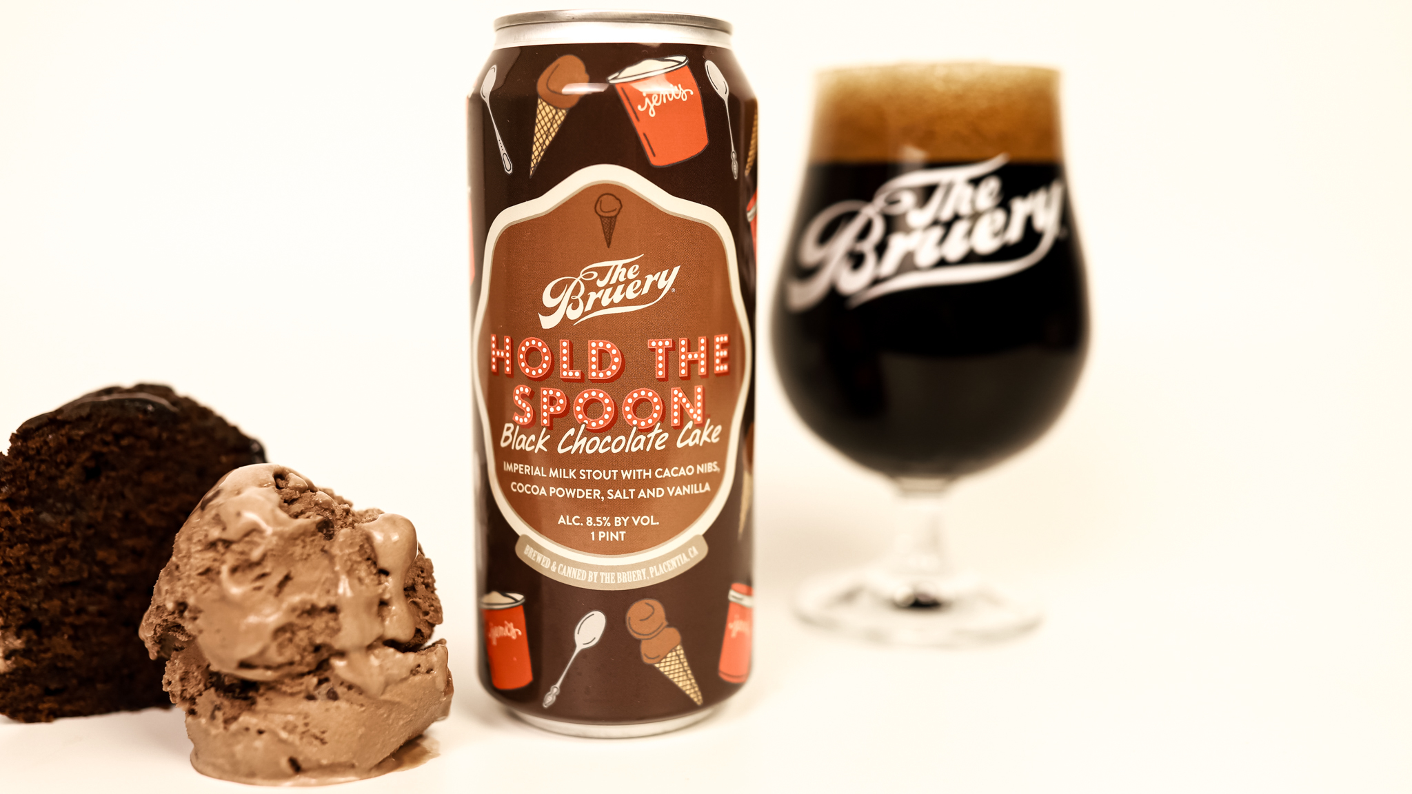image of Hold The Spoon Black Chocolate Cake, a collaboration with The Bruery and Jeni's Splendid Ice Creams courtesy of The Bruery