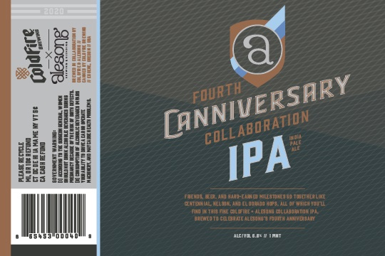 Alesong Brewing & Blending Fourth Canniversary Collaboration IPA with ColdFire Brewing