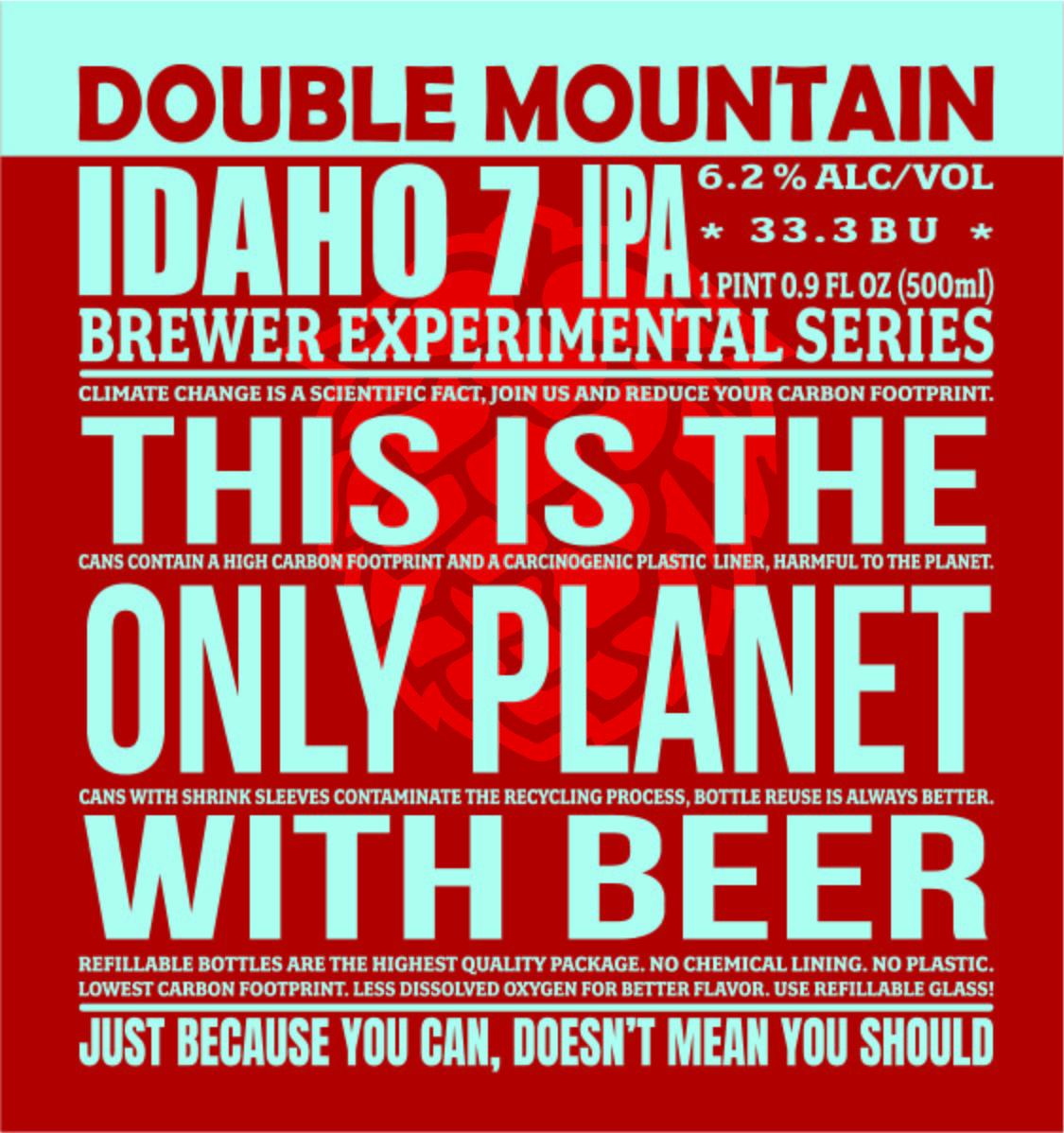 Double Mountain Idaho 7 IPA Label