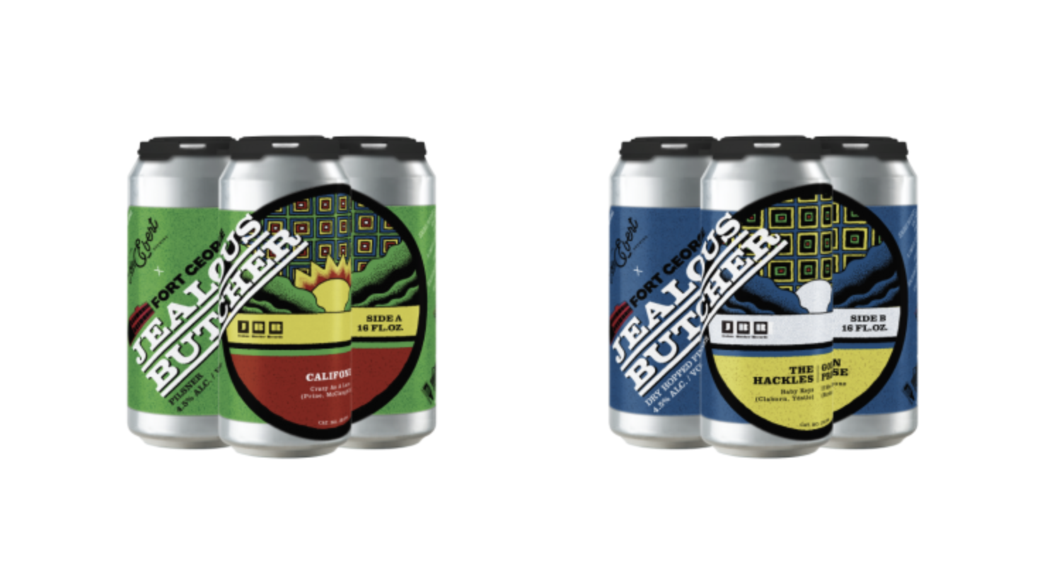 Fort George Brewery Presents The 45 Series with Cascade Record Pressing, Von Ebert Brewing and Jealous Butcher Records 4-Packs