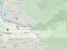 Multnomah County, Oregon's most populated county includes Portland, Gresham, and Troutdale. (image courtesy of Google)
