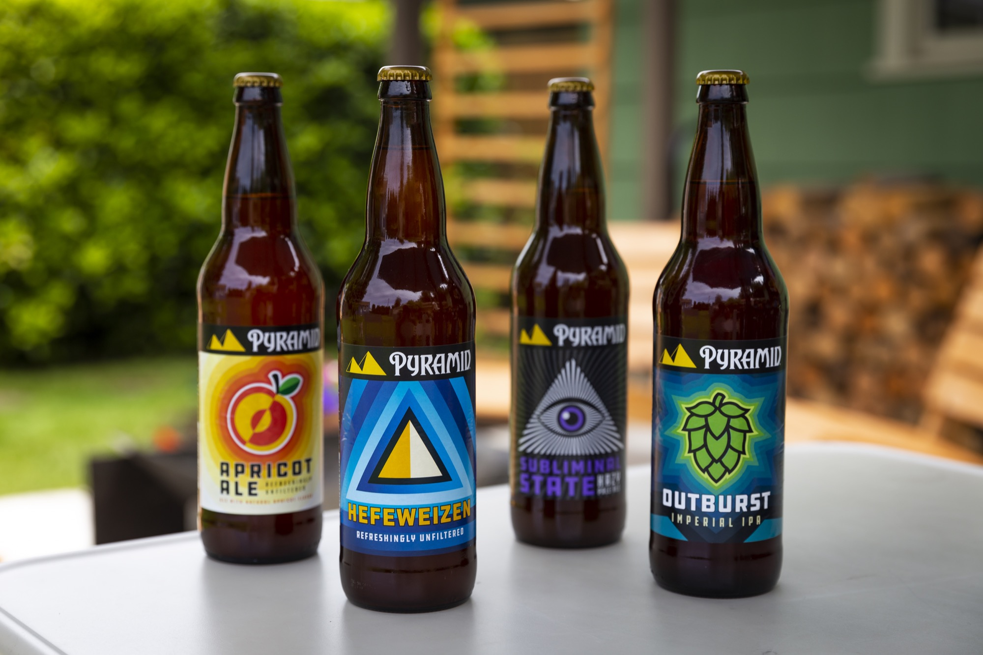 Pyramid Brewing will continue with 22oz bottles of its core offerings of Hefeweizen, Outburst Imperial IPA and Apricot Ale along with its seasonal offering. (image courtesy of Pyramid Brewing)
