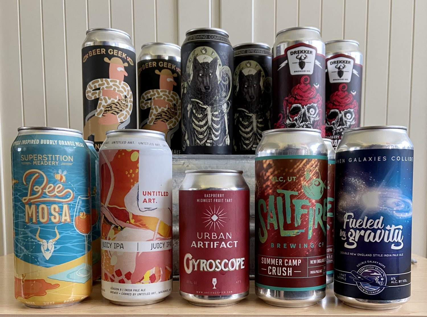 The Mixed Beer Gift Box from Tavour features a nice array of beers from Anchorage Brewing, Mikkeller, Drekker, Saltfire, Urban Artifact, Untitled Art, Connecticut Valley, and Superstition Meadery.